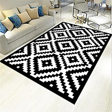 cheap carpet Modern rug, black, rug, is washed in