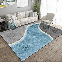 Cheap Carpet Small Bedroom Rug Blue river golden