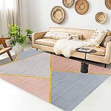 Cheap Online Carpets Hall Rug Golden pink gray