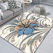 cheap room decor Blue carpet, sofa anti-mite