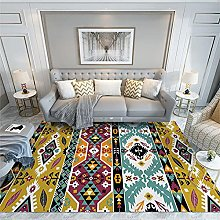 cheap rug Yellow carpet, abstract pattern, easy to