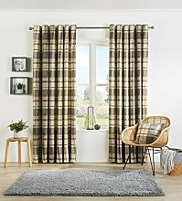 Check Pattern Luxury Curtain Pairs Fully Lined
