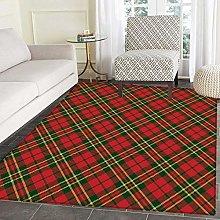 Checkered Area Rug Carpet Irish Tartan Plaid
