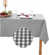 Checkered PVC Rectangle Table Cloth - 100%