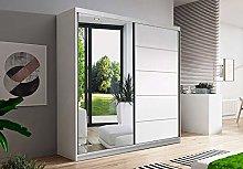 Checo Ltd NEW DOUBLE MIRROR SLIDING DOOR WARDROBE