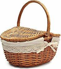 cheerfulus Handmade Wicker Picnic Basket Camping