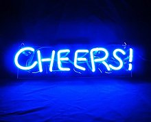 Cheers Neon Light Sign Handmade Real Glass Neon