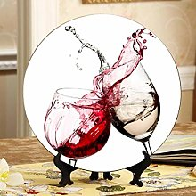 Cheers with Two Glasses in Hand Decor Plates