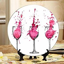 Cheers with Two Glasses in Hand Small Plate