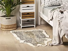 Cheetah Print Rug Brown Faux Fur Living Room
