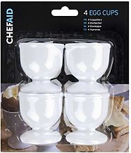 Chef Aid 10E17800 Plastic Egg Cup Set, White