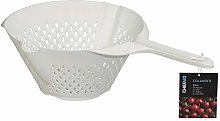 Chef Aid Plastic Colander with Long Handle