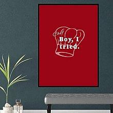 Chef Boy I Tried Wall Decor Poster Dictionary Art