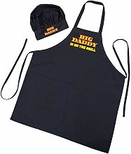 Chef Hat and Apron Set Big Daddy Is On The Grill -