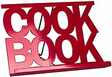 Chef Vida Cook Book Stand Kitchen Holder, Red