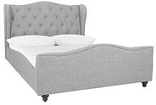 Chelmsford Fabric Double Bed Frame With Mattress