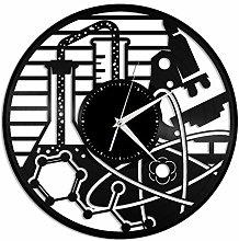 Chemical vinyl wall clock, vinyl record home