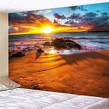 CHEMOXING Beach Scenery Print Wall Hanging For