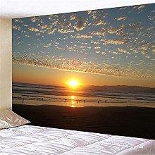 CHEMOXING Beach Sunrise 3D Print Wall Hanging For