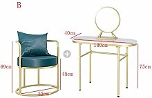 ChengBeautiful Vanity Table Metal And Wood Makeup