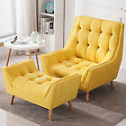 Chenille Large Cuddle Chesterfield Button Pouffe