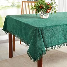 Chenille Tablecloths Gold Round Dia 132cm by