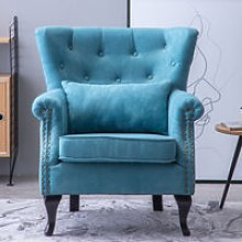 Chenille Wingback Armchair With Cushion, Tiffany