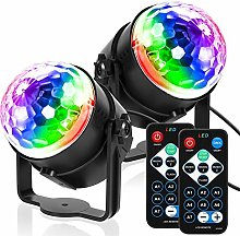 CHENJIA 2 Pack Disco Lights Disco Ball Party