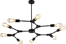 CHENJIA Industrial 9-Light Chandeliers Pendant