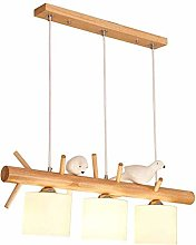 CHENJIA Modern Solid Wood LED Chandelier E27
