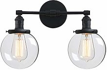 CHENJIA Vintage Wall Light Fixtures with Globe