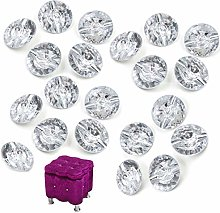 CHENKEE 60 Pcs Transparent Crystal Upholstery