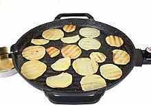 CHENMAO Round Pan Electric Baking Pan Smokeless