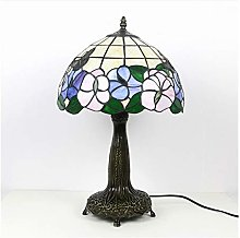 CHENPING Table lamp Butterfly Rose Stained Glass