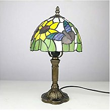 CHENPING Table lamp Stained Glass Table Lamp Rose