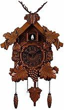 CHENSHJI Clocks Cuckoo Wall Clock Wooden Wall