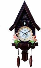 CHENSHJI Cuckoo Clock Antique Wooden Cuckoo Wall