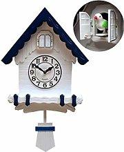 CHENSHJI Cuckoo Quartz Wall Clock Modern Antique