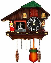 CHENSHJI Cuckoo Wall Clock Retro Hanging Hand