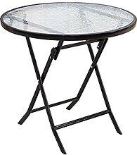 CHENSHJI Lightweight Folding Table Round Table