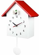 CHENSHJI Wall Clock Bird Song Chime Cuckoo Clock