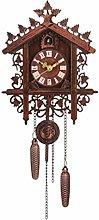 CHENSHJI Wall Clock Cuckoo Shaped Clock Antique