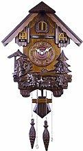 CHENSHJI Wooden Wall Clock Cuckoo Shaped Clock