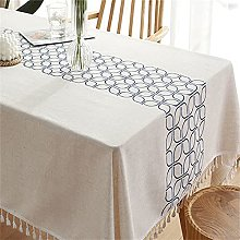CHENXTT Tablecloth Rectangle Cotton Linen