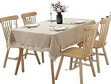 CHENXTT Tablecloth Rectangle Faux Linen Table