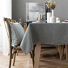 CHENXTT Tablecloth Wipeable Cotton Linen