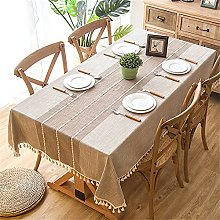 CHENXTT Washable Cotton Linen Table Cloth