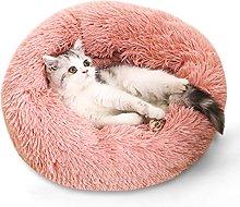 CHENYUWEN Dog Bed Donut, Portable Warm Soft