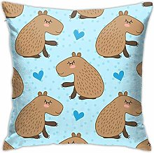 ChenZhuang Cute Capybara Throw Pillow Covers