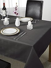 Chequers Luxury Design Tablecloth Black 70x108